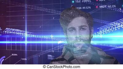 finansowy, przeciw, dane przetwórcze, człowiek
