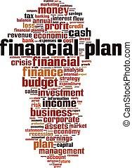 finansowy, słowo, plan, chmura