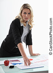finansowy, samica, advisor