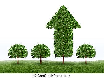 finansowy wzrost, powodzenie