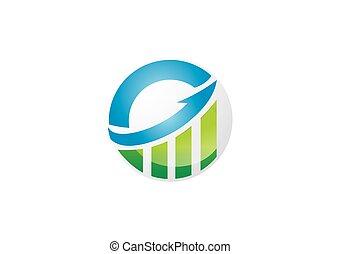 finanz, geschaeftswelt, schaubild, vektor, pfeil, logo