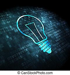 finanz, licht, hintergrund, digital, zwiebel, concept: