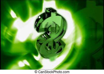 finanz, symbol, grün