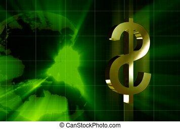 finanz, zeichen, gold