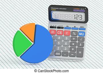finanza affari, bancario, e, contabilità, concetto, 3d, interpretazione