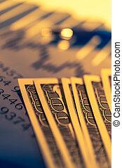finanza, affari, grafico, concept., soldi, grafico, fondo, pen., borsa, economia