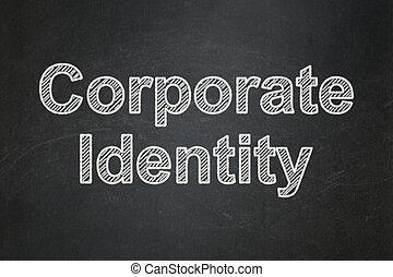 finanza, concept:, fondo, identità aziendale, lavagna