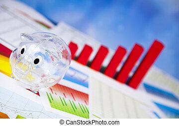 finanza, concetto, percento, naturale, colorito, tono