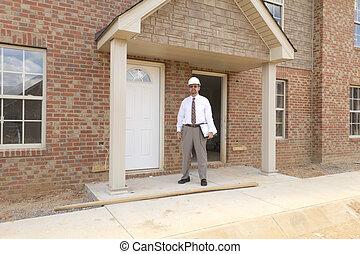 finanza, costruzione, direttore