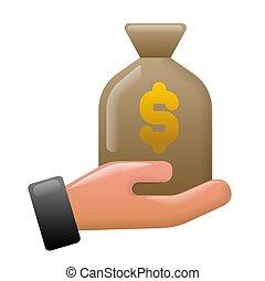 finanza, guadagni, icona