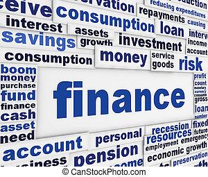 finanza, manifesto, disegno