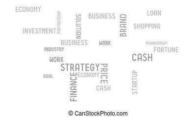 finanza, -, tipografia, animazione
