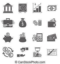 finanzas del negocio, iconos