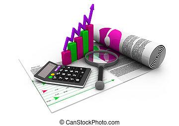 finanzas del negocio, impuesto, contabilidad, estadística, y, analytic, investigación, concepto