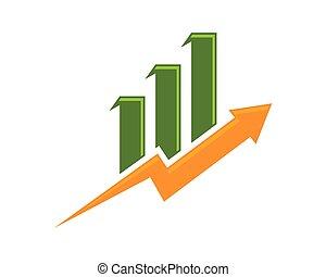finanzas del negocio, profesional, logotipo, plantilla