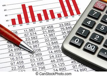 finanzas, estadística