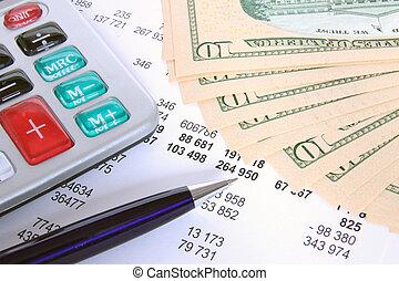 finanzas, y, empresa / negocio