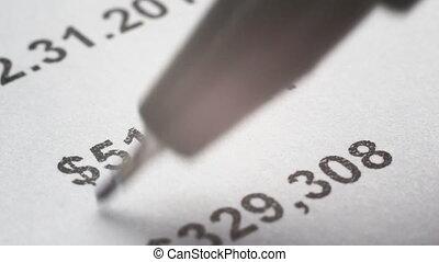finanziamento, analizzare, dichiarazione