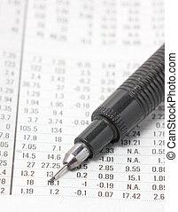 finanziario, automatico, sezione, fine, pencil.