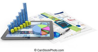 finanziario, contabilità, concetto