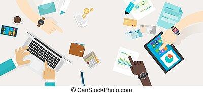 finanziario, finanza, famiglia, personale, budget, piano