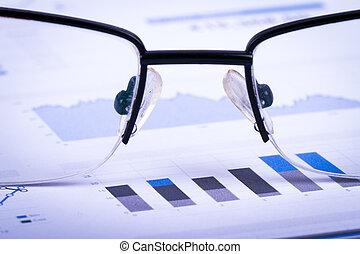 finanziario, grafico, analisi, grafici, sbarra, dati