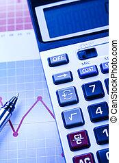 finanziario, indicatori, luminoso, colorito, tono, concetto