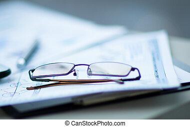 finanziario, posto lavoro, analisi