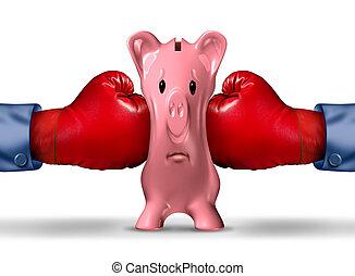 finanziario, soldi, pressione