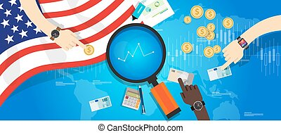 finanziario, stati, unito, america, stati uniti, economia