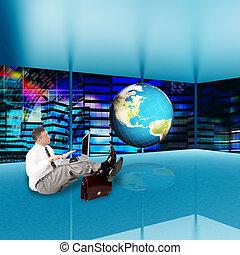 finanziario, tecnologia, affari, globalizzazione,  internet