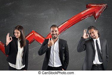 finanziario, utili, di, businessperson
