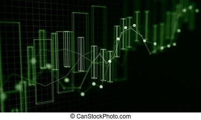 finanziell, concept., daten, 4k