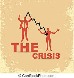 finanziell, concept., krise, textilfreie , businessman., ...