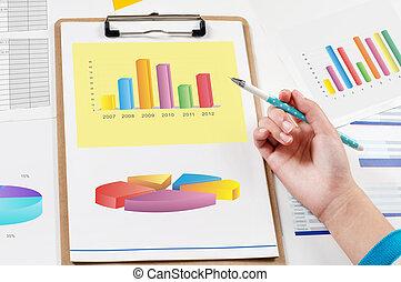 finanziell, daten, analyse