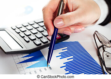 finanziell, daten, analysieren
