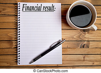 finanziell, ergebnis, wort