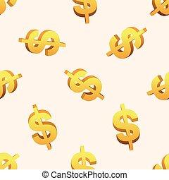 finanziell, geld, thema, elemente