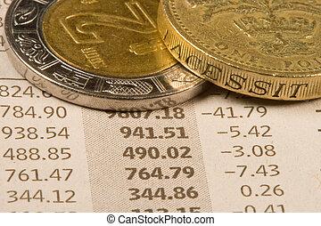 finanziell, geldmünzen