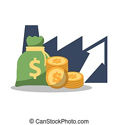 finanziell, geschaeftswelt, geld, geldmünzen, tasche, wachstum
