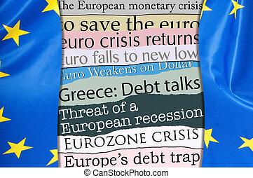 finanziell, krise, in, europa