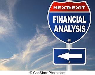finanzielle analyse, straße zeichen