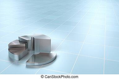 finanzielles diagramm, torte, perspektive, hintergrund, an, ...
