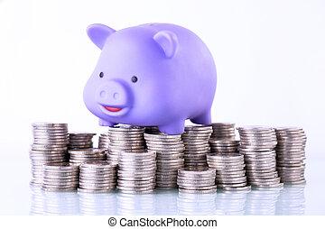finanzielles konzept, daheim, saving.