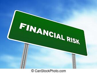 finanzielles risiko, landstraße zeichen