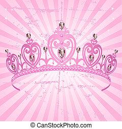 finca, corona, princesa, plano de fondo, radial