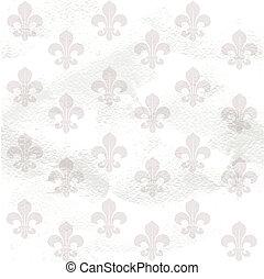 finca, papel, fleur-de-lys, plano de fondo, seamless