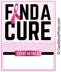 Find a Cure Breast Cancer Flyer Template
