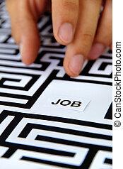 find a job concept