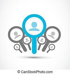 find a job, job search concept